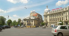 The Roman Square (Piata Romana) In Bucharest Stock Footage