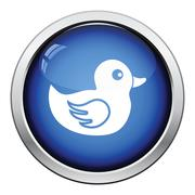 Bath duck icon - stock illustration