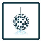 Party disco sphere icon - stock illustration