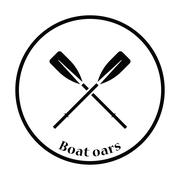 Icon of  boat oars Stock Illustration