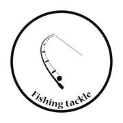 Icon of curved fishing tackle Stock Illustration