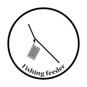 Icon of  fishing feeder net Stock Illustration