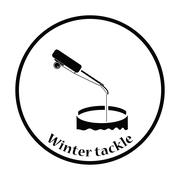 Icon of Fishing winter tackle Stock Illustration