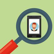 Human resources design. people illustration. search icon - stock illustration