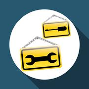 Under construction design. work illustration. repair icon Stock Illustration