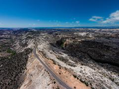 Scenic Byway Utah Route 12.Escalante to Boulder  The Hogback Stock Photos