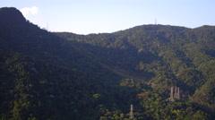Aerial Floresta da Tijuca hills Rio de Janeiro Stock Footage