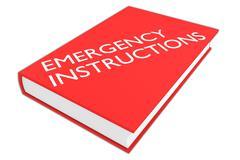 Emergency Instructions - safety concept Stock Illustration