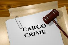 Cargo Crime legal concept Stock Illustration
