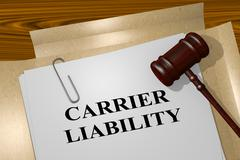 Carrier Liability legal concept Stock Illustration