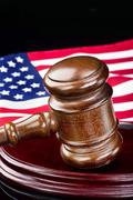 Gavel and Justice. Stock Photos