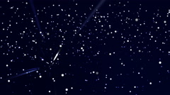 Dark blue stars-particulars background (up moving), down-right focus Stock Footage