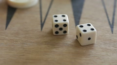 Double four on dice - stock footage