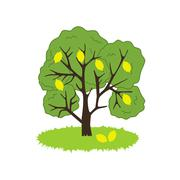 Lemon Tree Icon Stock Illustration
