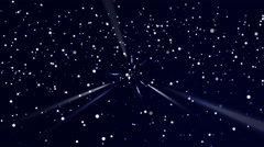 Dark blue stars-particulars background (up moving), center focus Stock Footage