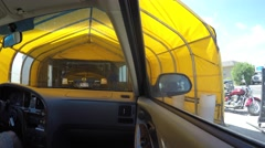 A timelapse interior of a car as it is cleaned in a car wash Stock Footage