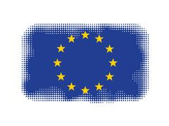 European Union flag symbol halftone - stock illustration