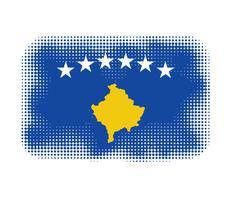Kosovo flag symbol halftone - stock illustration