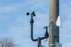 Weather station with anemometer Stock Photos