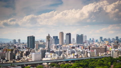 Osaka, Japan Skyline Stock Footage
