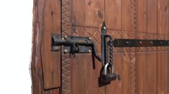 Bolt lock and a padlock Stock Footage
