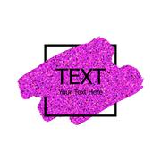 Vector pink sparkle paint stroke Stock Illustration