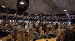 LISBON JUNE 5 2016 Time Out Market Lisboa Stock Footage