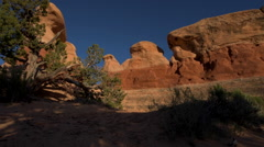 Devil's Garden hoodoos Grand Staircase Escalante National Monument, Utah Stock Footage