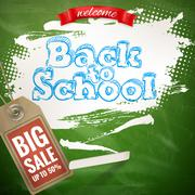 Back to School sale background. EPS 10 Stock Illustration
