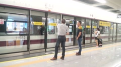 Shenzhen Metro Line 11 began operating Stock Footage
