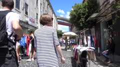 LISBON JUNE 5 2016 Used vintage market Stock Footage
