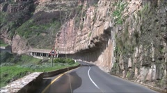 Driving chapmans peak road Stock Footage