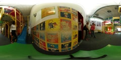 360Vr Video Parents Waiting For Kids Play Zone Children's Day Opole Play Room Stock Footage