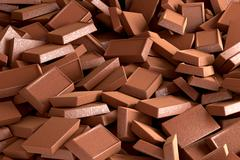 Chocolate Pile Background, 3D Rendering Stock Illustration