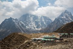 SAGARMATHA, NEPAL-MAY 1: Nepal lodge 1, 2016 in Sagarmatha, Nepal. Nepal lodg Stock Photos