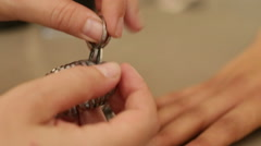 Fitting rings for size of ring - stock footage