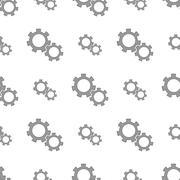 Seamless Gears Pattern Stock Illustration