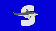 Letter S and Shark (foreground) Stock Footage