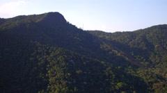 Aerial Tijuca Forest Hills Rio de Janeiro Stock Footage