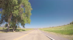Car driving on highway-POV point of view. Stock Footage