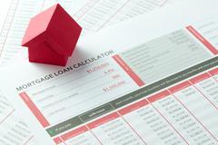 Mortgage loan balance sheet Stock Photos