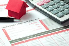 Mortgage loan calculator Stock Photos