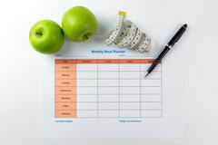 Weekly meal planner Stock Photos