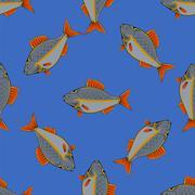Seamless Fish Pattern Stock Illustration