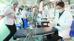 Dentistry for kid, student Elementary School. Bangkok Thailand Stock Footage