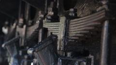 Old retro vintage steam trains spring - stock footage