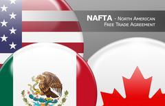 NAFTA - North American Free Trade Agreement - stock illustration