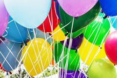 Balloons party, leisure activity - stock photo