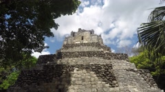 Amazing beautiful Mayan ruin at Coba near Cancun Stock Footage