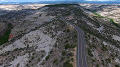 Scenic Byway Utah Route 12.Escalante to Boulder  The Hogback Aerial Stock Footage